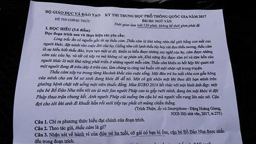 37 thí sinh bị đình chỉ thi môn Ngữ văn tốt nghiệp THPT Quốc gia