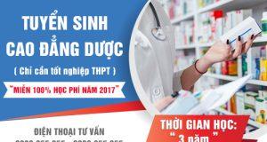 Tuyen-sinh-cao-dang-duoc-tphcm-mien-100%-hoc-phi-nam-2017
