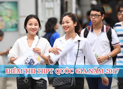 Bộ GD&ĐT chính thức công bố phổ điểm thi THPT Quốc gia 2017