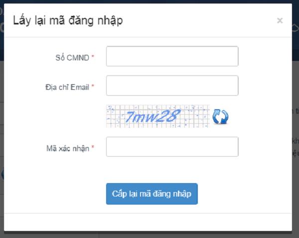 Cách lấy lại mã đăng nhập tài khoản thi THPT quốc gia