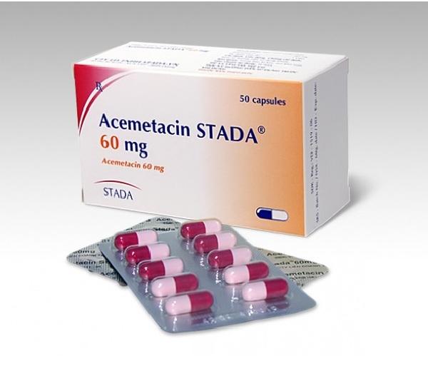 Thuốc acemetacin có tác dụng gì và liều dùng thế nào?