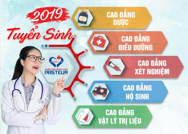 Tuyển sinh 5 ngành Cao đẳng Y Dược năm 2019